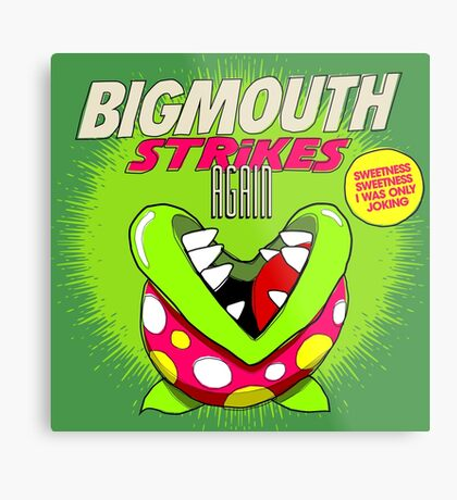 The 80's 8-bit Project - The Big Mouth Metal Print