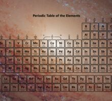 118 Element Galaxy Periodic Table Sticker