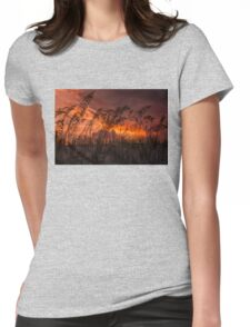 Sunset through the sea oats Womens Fitted T-Shirt