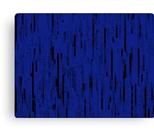 Line Art - The Bricks, black and dark blue Canvas Print
