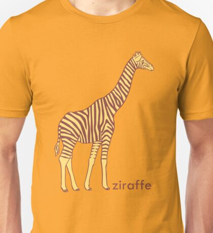 A stripy giraffe? No, it's a Ziraffe Unisex T-Shirt