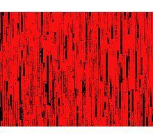 Line Art - The Bricks, black and red Photographic Print