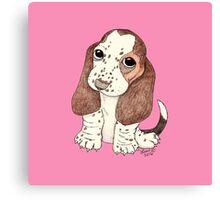 Basset Pup Canvas Print