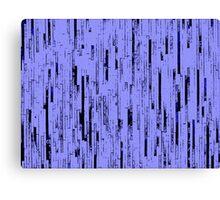 Line Art - The Bricks, black and purple Canvas Print