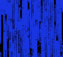 Line Art - The Bricks, black and blue Sticker