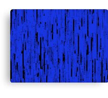 Line Art - The Bricks, black and blue Canvas Print