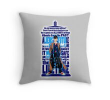 An Angel with all star red converse Shoes typograph Throw Pillow