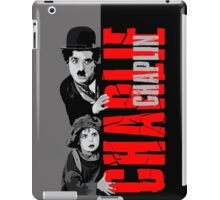 Charlie Chaplin with the kid sneak a peek iPad Case/Skin