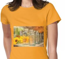 Sunflowers and Jars Womens Fitted T-Shirt