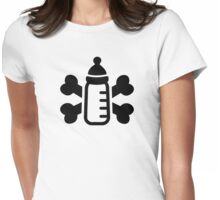 Baby bottle crossed bones Womens Fitted T-Shirt