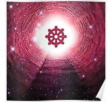 Buddhism (Wheel of Dharma) (Square) Poster