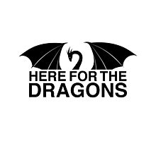 Dragons - Here for the Dragons Photographic Print