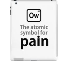 Atomic Symbol for Pain iPad Case/Skin