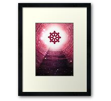 Buddhism (Wheel of Dharma) Framed Print