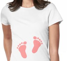 Pink baby feet Womens Fitted T-Shirt