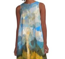 Bare Tree in the Evening Light A-Line Dress