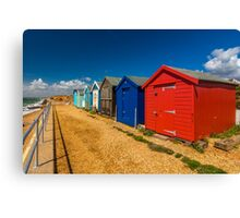 Beach cabins Canvas Print