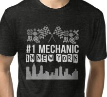 1st Mechanic in New York Tri-blend T-Shirt