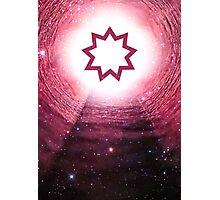 Bahai Faith (Nine Pointed Star) Photographic Print