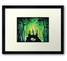 Emerald Forest Fire Framed Print