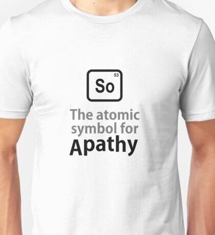 Atomic Symbol for Apathy Unisex T-Shirt