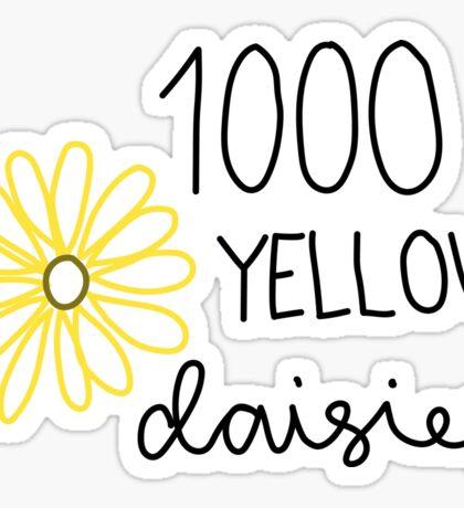 1000 yellow dasies Sticker