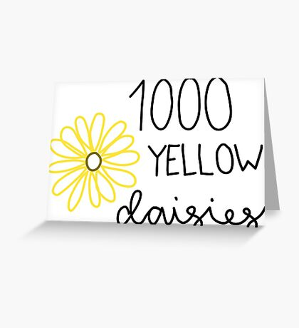 1000 yellow dasies Greeting Card