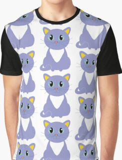 Only Lonely and Blue Cat Graphic T-Shirt