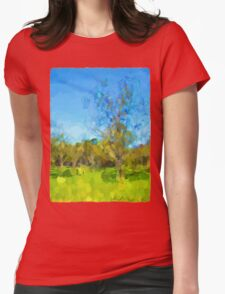 Windy Trees in a Row Womens Fitted T-Shirt