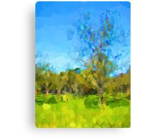 Windy Trees in a Row Canvas Print