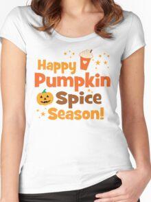 Happy Pumpkin Spice Season Women's Fitted Scoop T-Shirt