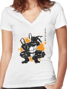 Nunchaku Warrior Women's Fitted V-Neck T-Shirt