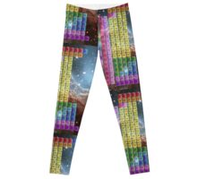 Starfield Periodic Table with 118 Element Names Leggings