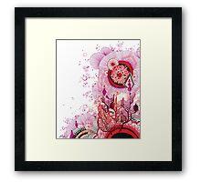 Coral Sunburst Framed Print