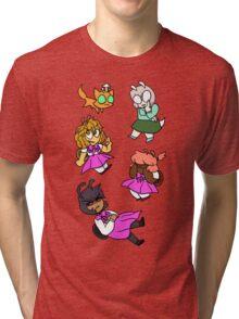 EscarGo! Falling characters Tri-blend T-Shirt