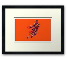 hd basketball artwork Framed Print