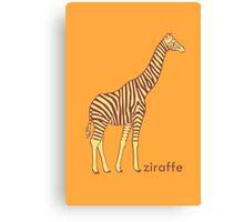 A stripy giraffe? No, it's a Ziraffe Canvas Print