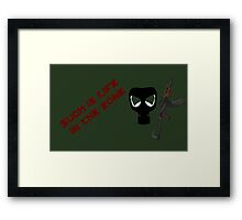 Such Is Life in the Zone Framed Print