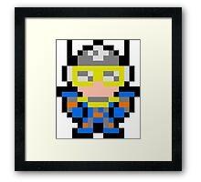Pixel Sonic Blast Man Framed Print