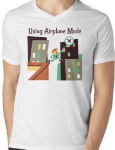 Using Airplane Mode Mens V-Neck T-Shirt