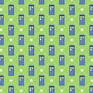 Police Box and Daisies pattern by sirwatson
