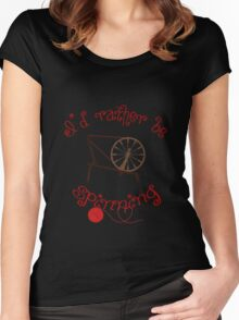 Spinning Products - I'd Rather Be Spinning! Women's Fitted Scoop T-Shirt