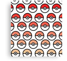 Pokeball - Red/Yellow Gradient Canvas Print