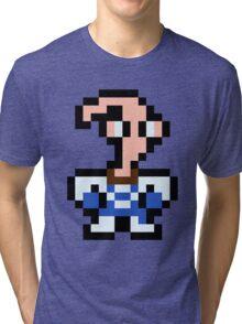 Pixel Earthworm Jim Tri-blend T-Shirt