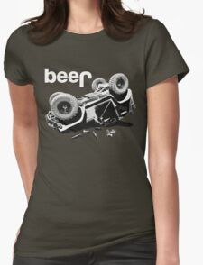 "Funny ""beer"" 4x4  Womens Fitted T-Shirt"