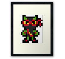 Pixel Zool Framed Print