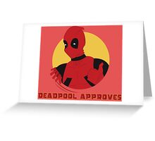 Deadpool Approves Greeting Card