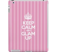 Keep Calm and Glam Up - Pink Stripes iPad Case/Skin