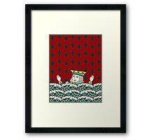 Red King Overboard Framed Print