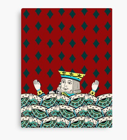 Red King Overboard Canvas Print